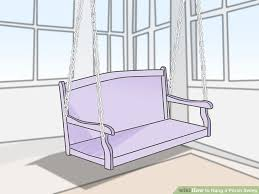 3 ways to hang a porch swing wikihow