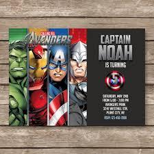 superhero invitation super hero invite avengers by partygiraffe