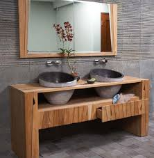 luxurious and splendid real wood vanity solid wood bathroom