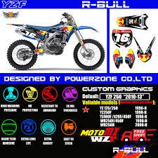 motocross bike graphics aliexpress com buy wr yz yzf 125 250 400 450 team graphics