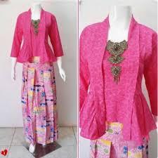 desain baju batik untuk acara resmi 55 model baju batik kombinasi terlengkap kain polos brokat