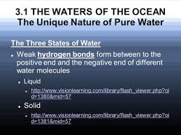 chapter 3 chemical and physical features of seawater and world