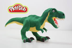 learn how to make t rex dinosaur for kids using play doh youtube