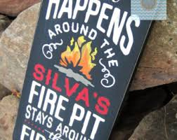 Fire Pit Signs by Custom Fire Pits Etsy