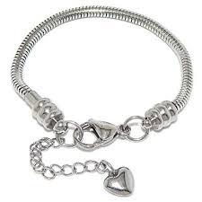european charm bracelet clasp images Stainless steel starter charm bracelet for kids fits jpg