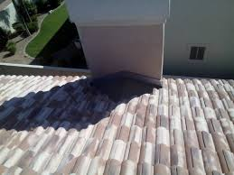 Tile Roof Repair Scottsdale Tile Roof Repair With Chimney Cricket Traditional