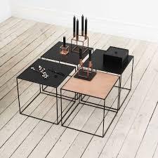 by lassen twin black side table black copper scandinavian design