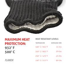 extended cuff kevlar bbq and fireplace glove fireproof heat