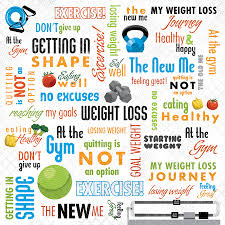 printable weight loss quotes karen foster design weight loss collection 12 x 12 paper