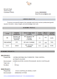 Example Format Of Resume by Professional Curriculum Vitae Resume Template For All Job