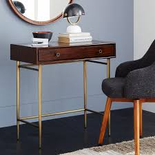 Small Mid Century Desk Heston Mid Century Mini Desk West Elm My Apartment Pinterest