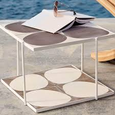 contemporary coffee table painted steel square garden