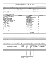 Template Of Income Statement by 7 Personal Financial Statement Template Financial Statement Form