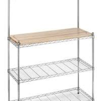 Bakers Rack Chrome Whitmor 6054 268 Supreme Bakers Rack Chrome And Wood Storage