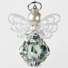 birthstone ornament you are a gem to me angel ornament with silver halo angel