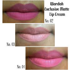 Wardah Lip Di Pasaran review wardah exclusive matte lip no 02 no 03 no 04