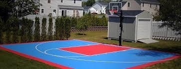 Backyard Basketball Half Court Basketball Court Resurfacing Sealcoating Dayton Ohio