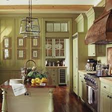 Green Country Kitchen Greenyellow Painted Traditional Wood Kitchen Cabinets Sherwin