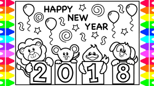 new year kids book coloring for kids happy new year 2018 coloring book coloring