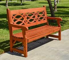 Hardwood Garden Benches Redwood Garden Bench With English Design Forever Redwood