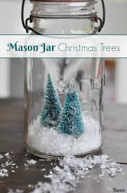mason jar christmas tree crafts with bottle brush trees darice
