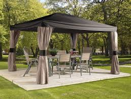 10 X 10 Gazebo Canopy Cover by Sojag Horizon 14 Ft W X 10 Ft D Aluminum Permanent Gazebo