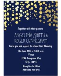navy blue wedding invitations shopping sales on gold foil confetti navy blue wedding