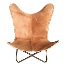 Vintage Butterfly Chair Ashton Vintage Grey Leather Butterfly Chair Industrial Chic