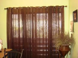 Black Iron Curtain Rod Cream Wall Paint Color Closed To Brown Mesh Curtains As Well As