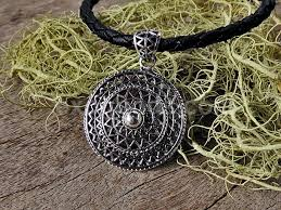 silver pendant necklace handmade images Ethnic silver pendant of sun shape handmade tribal jewelry of jpg