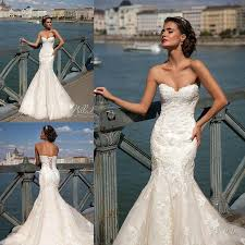 charming ivory mermaid wedding dresses sweetheart full lace