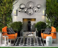 kitchen backyard decor combined with loveable fur rug and orange