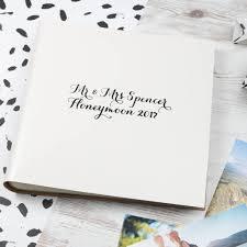 honeymoon photo album modern calligraphy leather honeymoon album by begolden