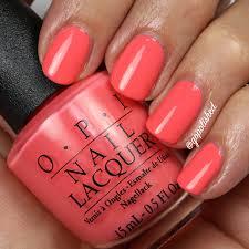 opi time for a napa mini orange peach and coral polish