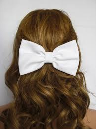bow hair white hair bow clip white bow white hair clip bows for women bows