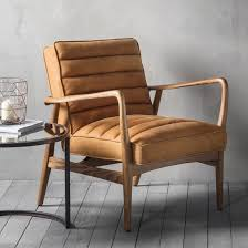Wooden Frame Armchair Retro Tan Leather Armchair U2013 Primrose U0026 Plum