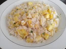 cuisiner les courgettes jaunes risotto aux courgettes jaunes et à la ricotta par cfgelly une