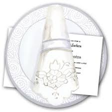 bridesmaids luncheon invitation diecut china plate bridesmaids luncheon invitations paperstyle