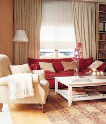 casual and colorful living room design ideas red sofa red