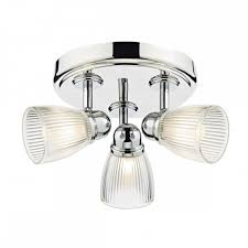 Bathroom Lighting Spotlights Modern Polished Nickel 3 Light Bathroom Ceiling Spotlight Cluster