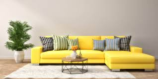 Einrichtung Teppich Wohnzimmer Abstrakt Einrichten Einrichtung Gelben Akzenten Guru Idee Ideen