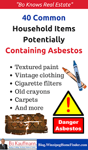 40 common household items potentially containing asbestos