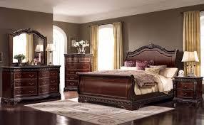 bella solid wood sleigh bed 6 piece bedroom set dresser mirror