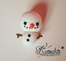 krawka mr snowman christmas tree ornament free pattern