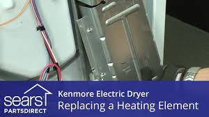 how to replace a kenmore electric dryer heating element youtube