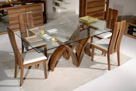 tiny floating teak dining room furniture on calm floor near white