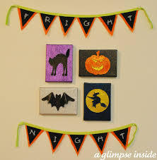 Halloween Bunting Banner A Glimpse Inside October 2011