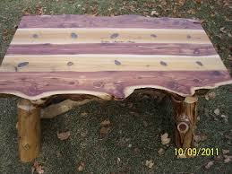 Red Cedar Outdoor Furniture by Custom Log Design