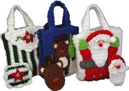 gift bags christmas christmas gift bags with money holders set 2 crochet pattern