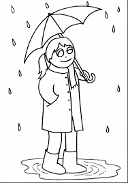 awesome rainy weather coloring pages with rainy day coloring pages